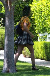 Katy Perry in Mini Skirt - Out in Beverly Hills - June 2014