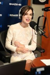 Keira Knightley Visited SiriusXM Studios in New York City - June 2014