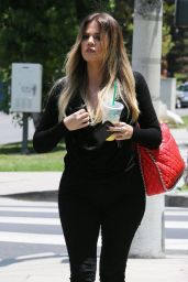 Khloe Kardashian Casual Style - Visiting a Friend in Sherman Oaks - June 2014
