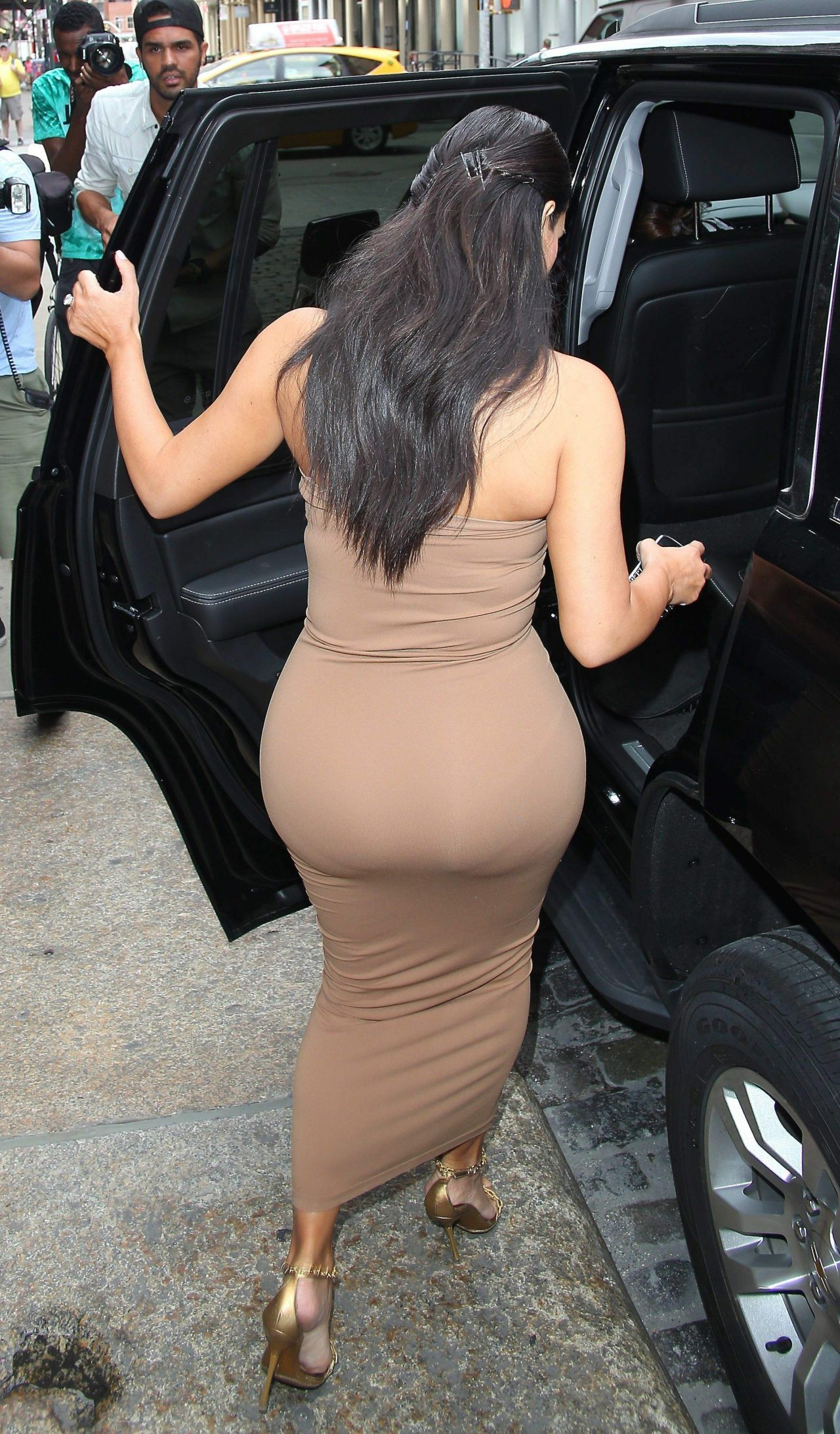 Something is. kim kardashian tight dress with you