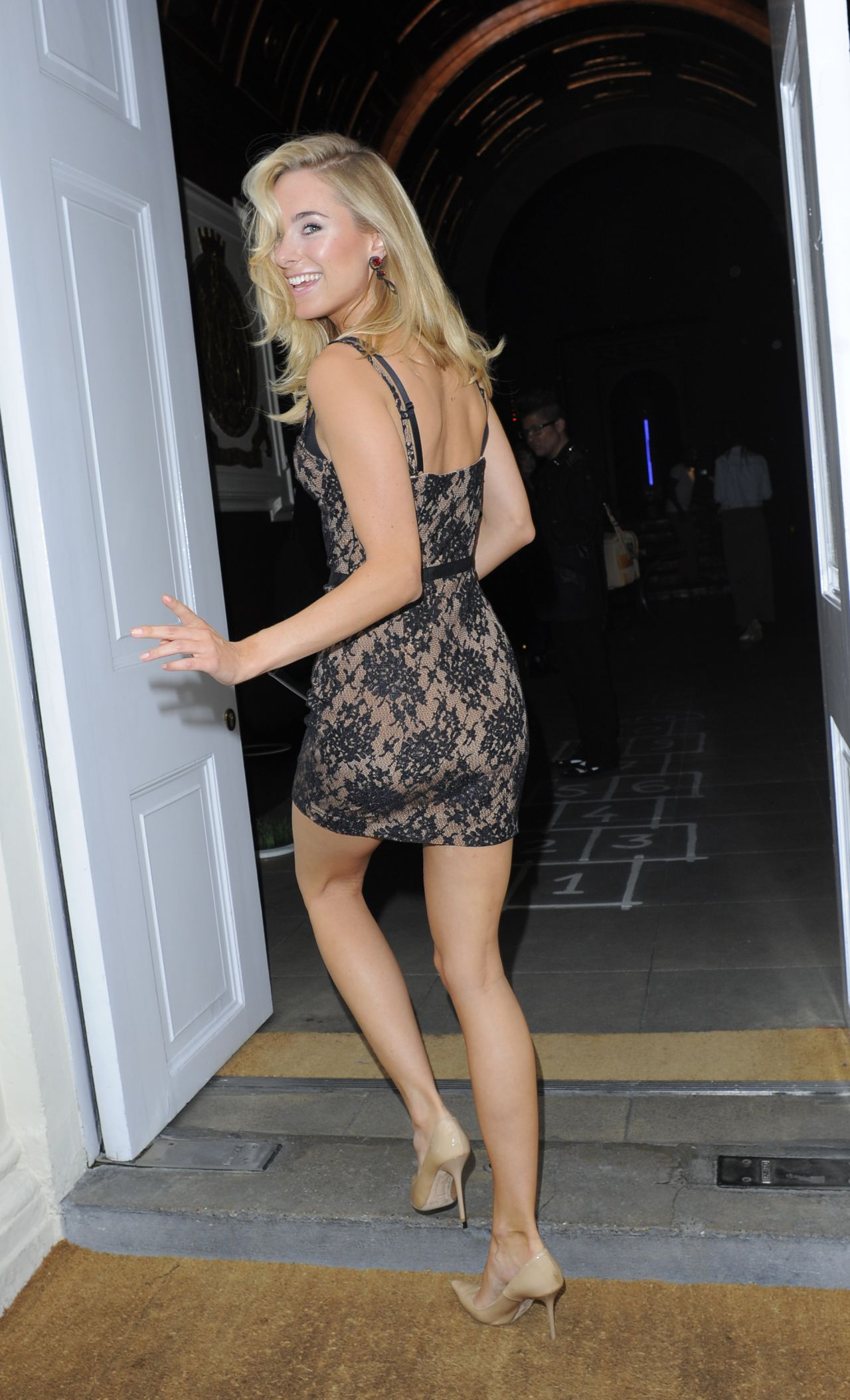 Kimberley Garner In Mini Dress Velsvoir Presentation