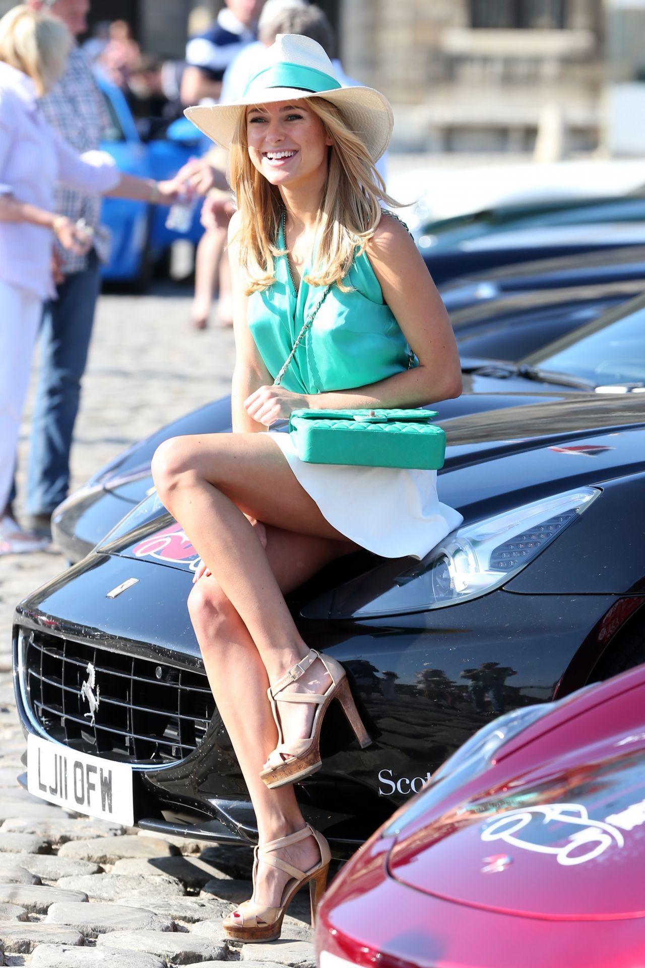 Kimberley Garner in Mini Skirt at The Grand Tour Race in Paris - June 2014