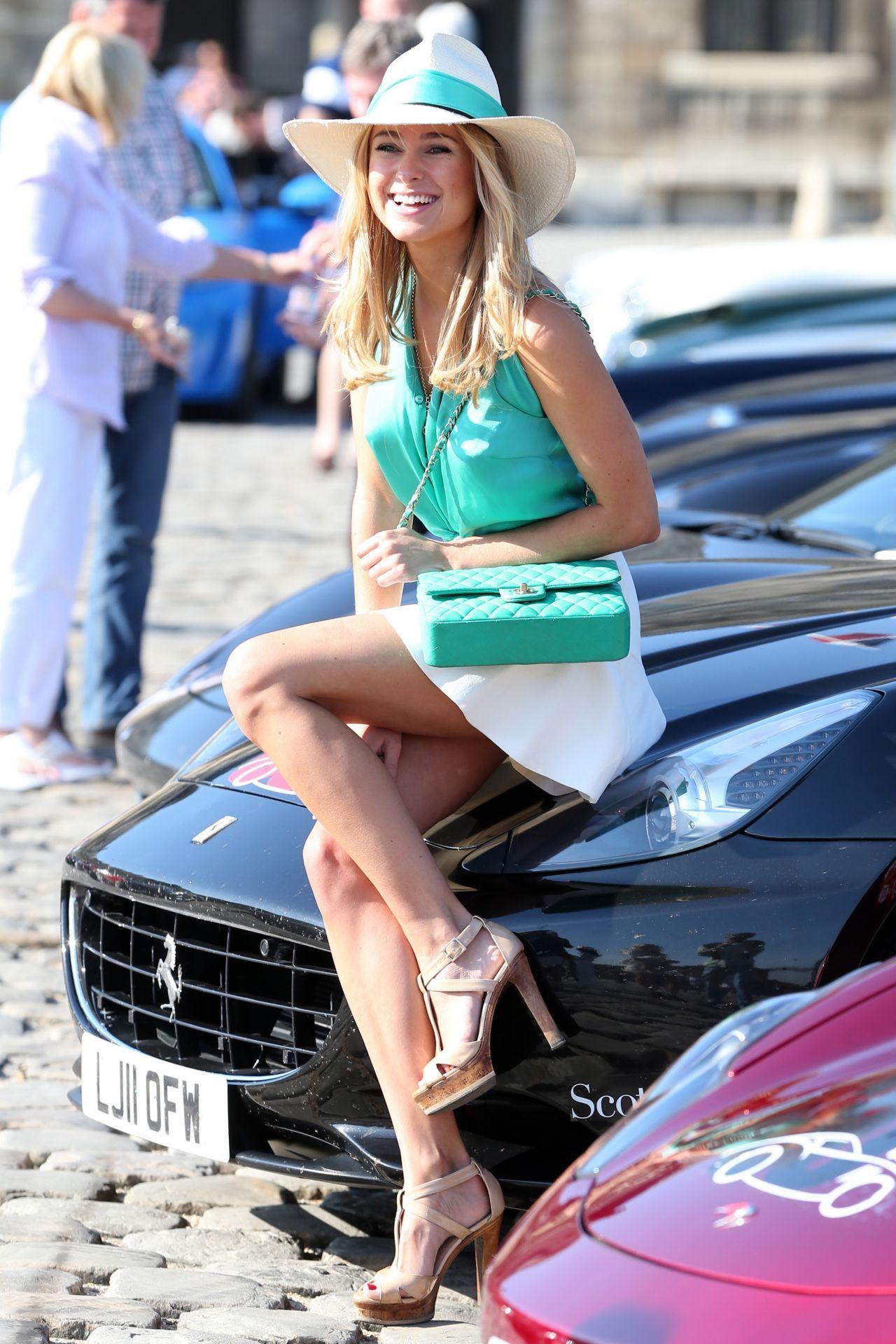 Kimberley Garner In Mini Skirt At The Grand Tour Race In