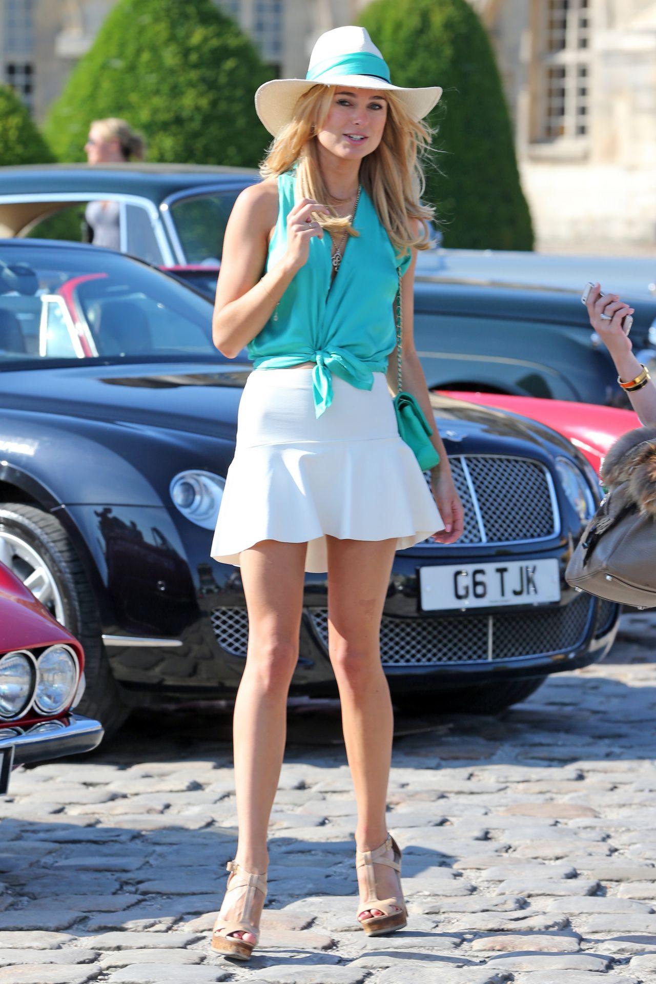 Jaguar San Antonio >> Kimberley Garner in Mini Skirt at The Grand Tour Race in Paris - June 2014