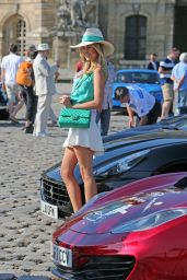 Kimberley Garner in Mini Skirt at The Grand Tour Race in Paris - June 2014