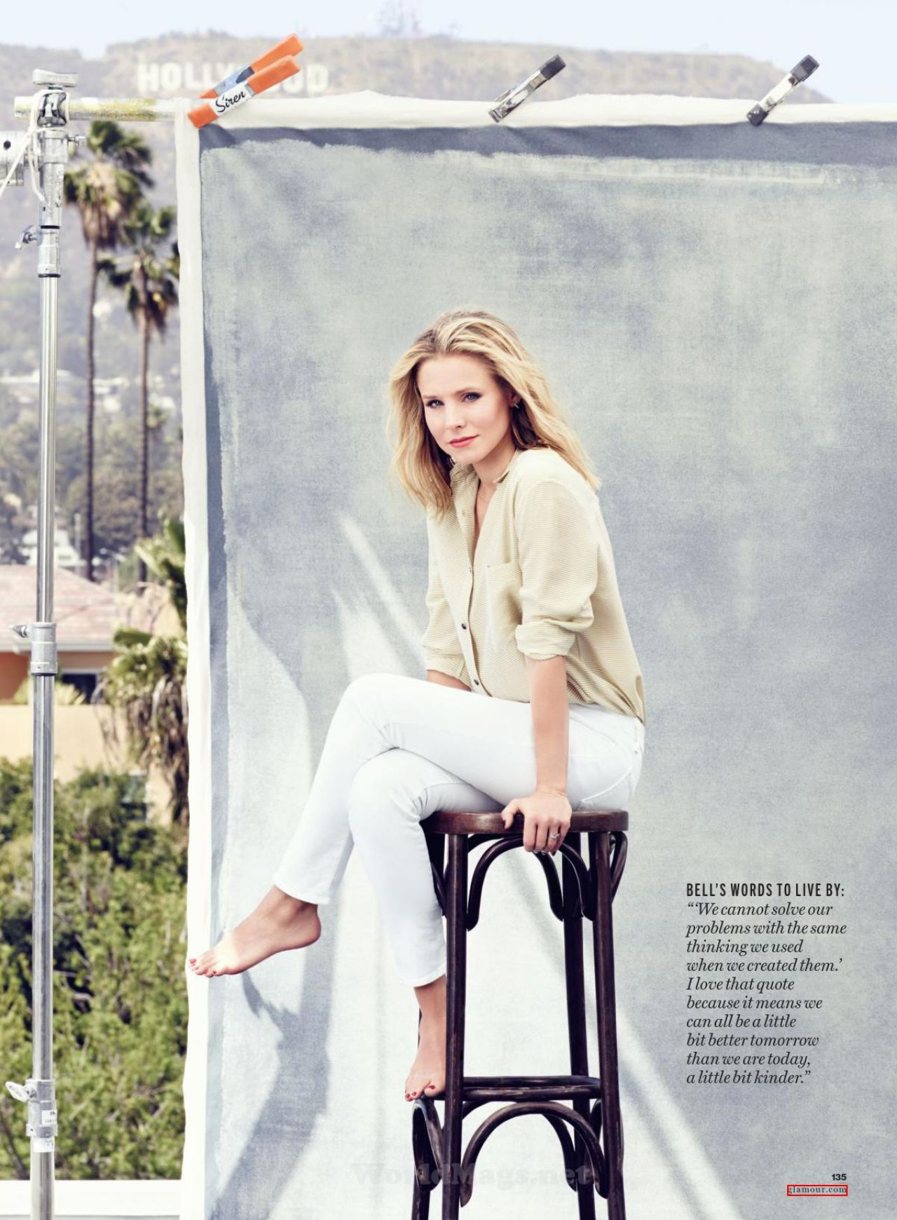 Kristen Bell - Glamour Magazine (USA) - July 2014 Issue