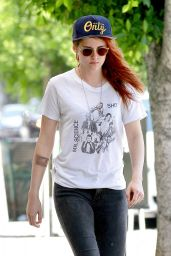 Kristen Stewart Street Style - Out in LA, June 2014