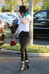 Kylie Jenner in Jeans - Out in Calabasas - June 2014