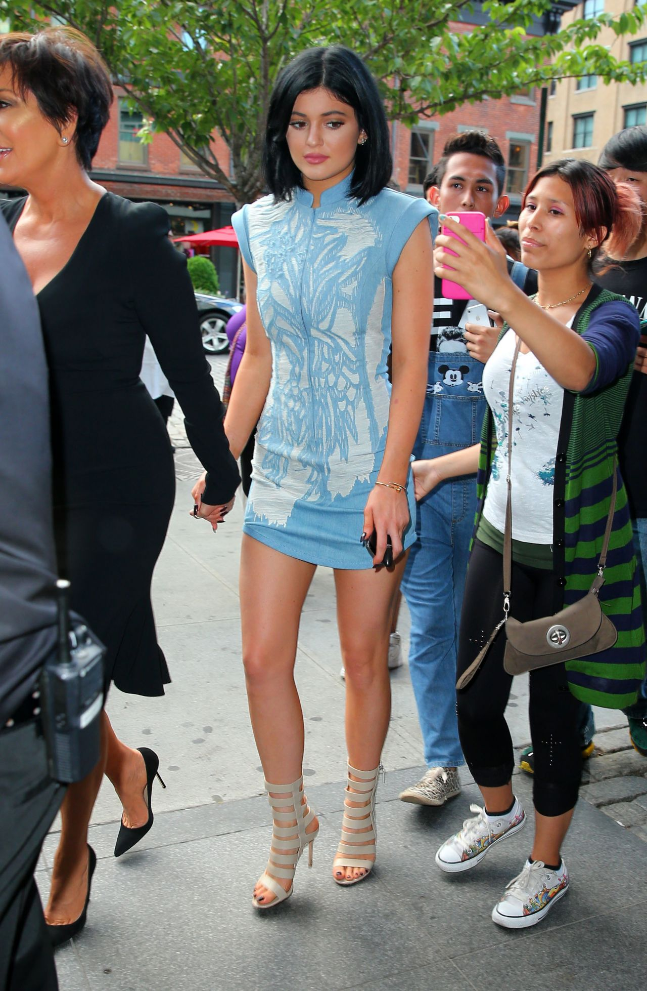 Kylie jenner leaving her hotel in nyc