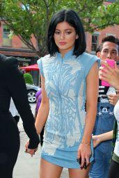 Kylie Jenner in Mini Dress - Leaving Her hotel in New York City - June 2014