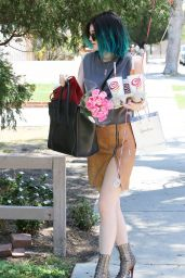 Kylie Jenner in Mini Skirt - Out in Los Angeles - June 2014