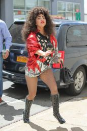 Lady Gaga Crazy Wig Style - Out in New York City - June 2014