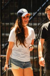 Lana Del Rey Street Style - Out With a Friend in New York City - June 2014