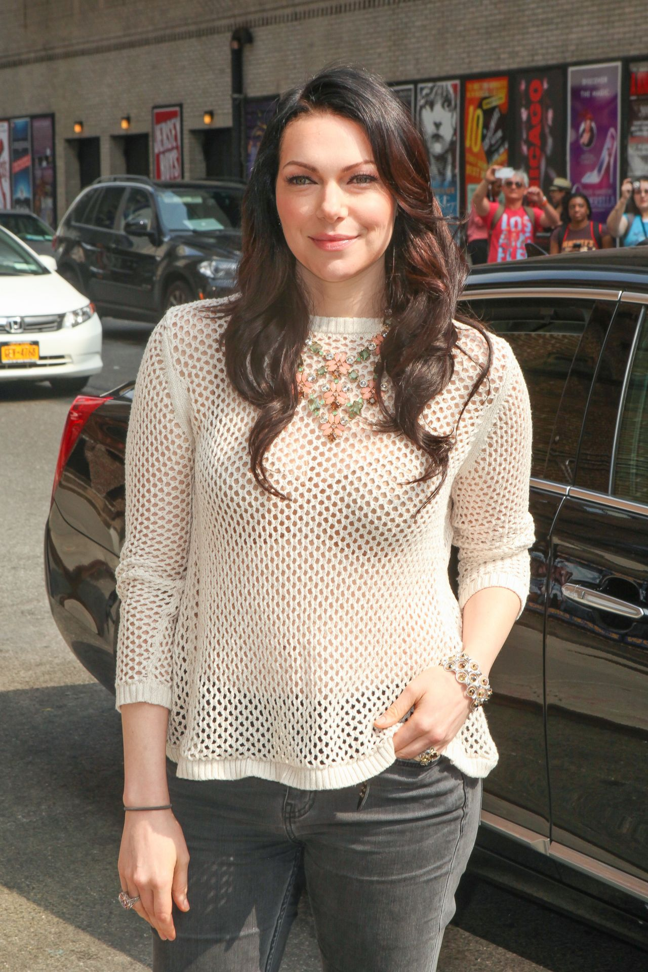 Laura Prepon At The Late Show With David Letterman In New