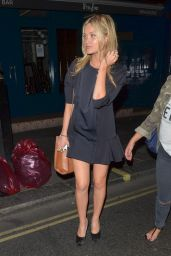 Laura Whitmore Night out Style - Groucho Club, June 2014