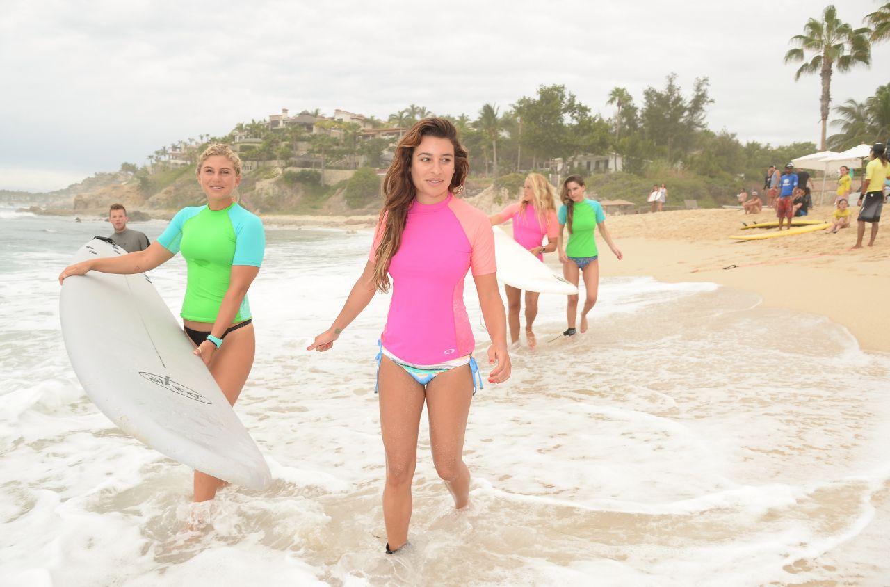 Lea Michele – Oakley Learn to Ride-Surf in Cabo San Lucas – June 2014