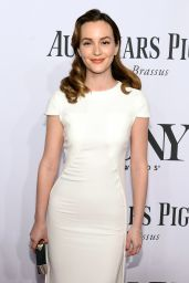 Leighton Meester Wearing Antonio Berardi Dress – 2014 Tony Awards in New York City