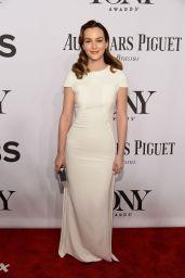 Leighton Meester Wearing Antonio Berardi Dress – 2014 Tony Awards in New York City