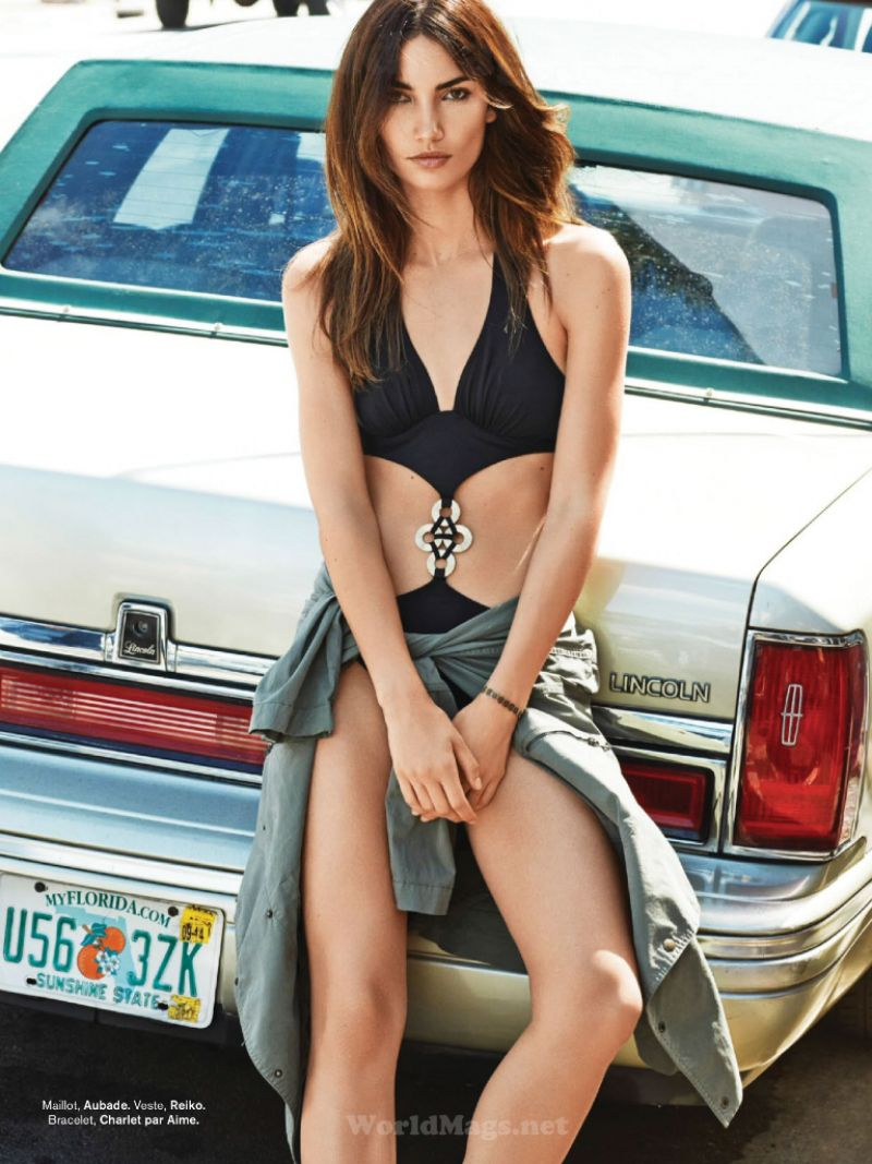 Lily Aldridge - Glamour Magazine (Paris) - July 2014 Issue