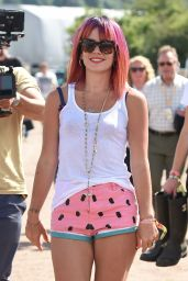 Lily Allen in Shorts - Glastonbury Festival, June 2014