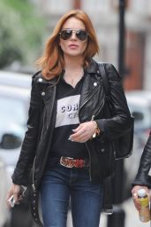 Lindsay Lohan - Out in North London - June 2014