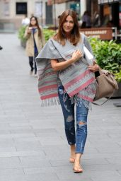 Lisa Snowdon Loves a Poncho - Out in Leicester Square, London - June 2014