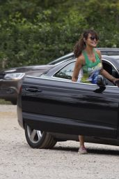 Lizzie Cundy Work Out in a London Park - June 2014