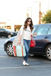 Lucy Hale in Jeans – Out in Studio City - June 2014