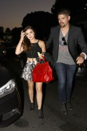 Lucy Hale Night Out Style - The Church Key in West Hollywood - June 2014