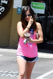 Lucy Hale Shows Off Legs - Out in Los Angeles - June 2014