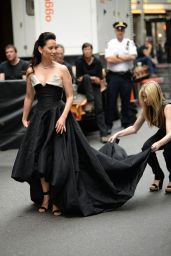 Lucy Liu Wearing Vivienne Westwood Gown at 2014 Tony Awards in New York City