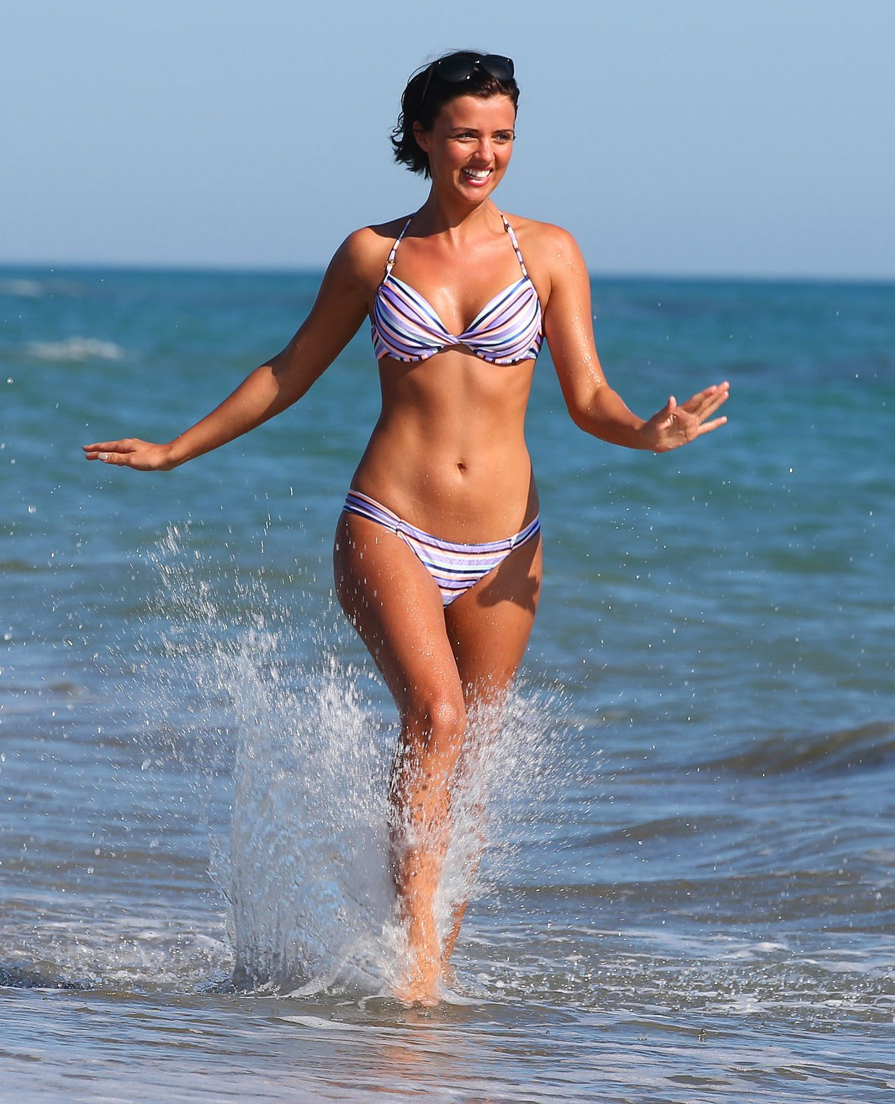 Lucy Mecklenburgh Bikini Photos Beach In Italy June 2014