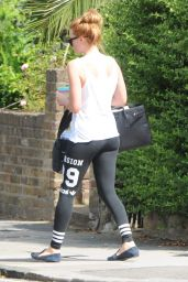 Margot Robbie in Tights - Out in London - June 2014