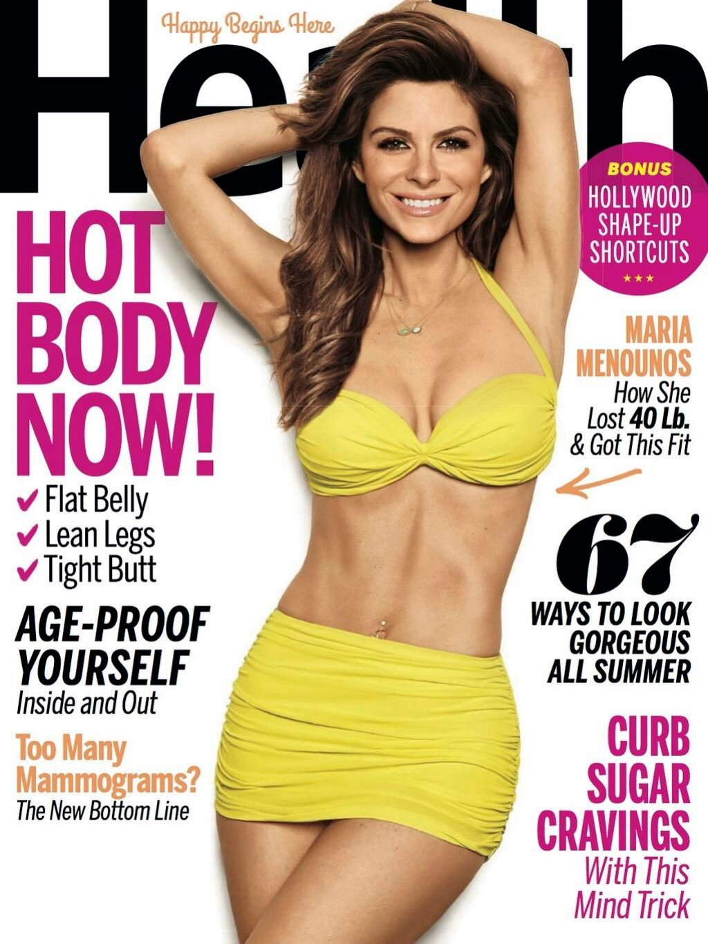 Maria Menounos - Health Magazine July 2014 Cover