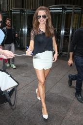 Maria Menounos Leggy in Mini Dress - Signing Autographs Out in New York City - June 2014