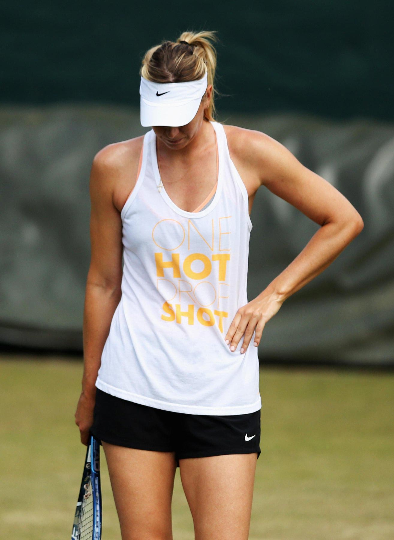 Maria Sharapova At Practice Session Before Wimbledon 2014