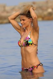 Michelle Hunziker in a Bikini at Beach in Varigotti - June 2014