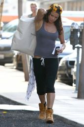 Michelle Rodriguez Street Style - Out Shopping In West Hollywood - June 2014