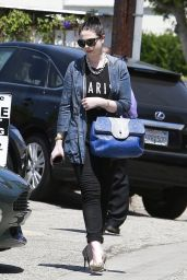 Michelle Trachtenberg Casual Style - Leaving a Salon in West Hollywood - June 2014