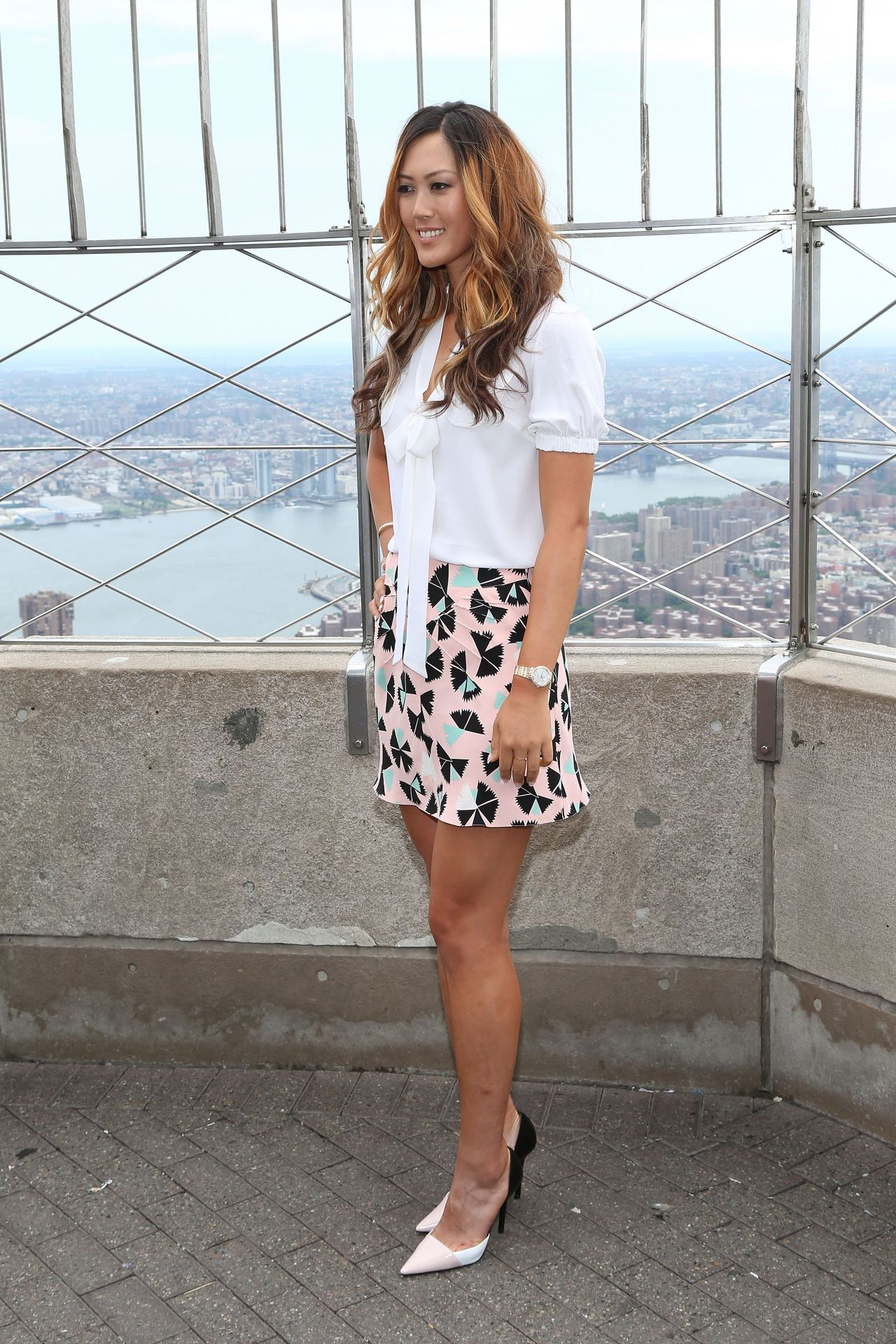 Michelle Wie Empire State Building In New York City