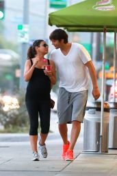 Mila Kunis & Ashton Kutcher - Out in Sherman Oaks - June 2014