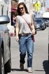 Minka Kelly Street Style - Out Shopping in Los Angeles - June 2014