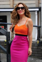 Myleene Klass - Leaving the ITV studios in London - June 2014