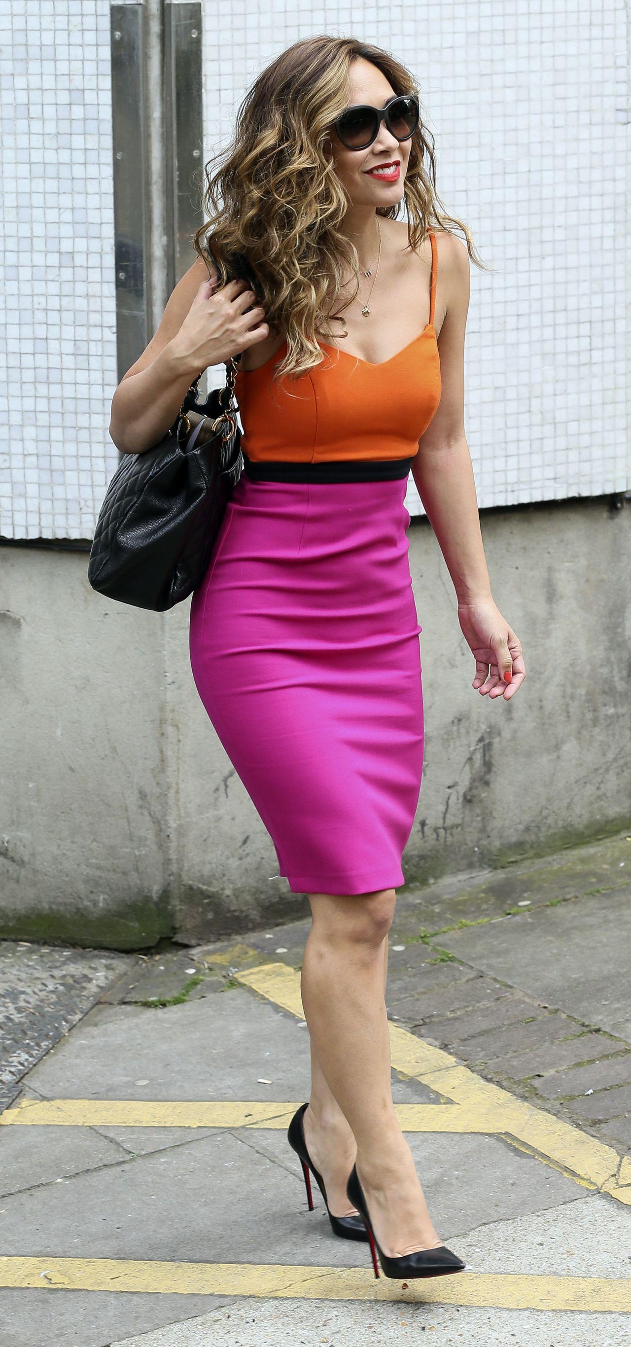 Myleene Klass Leaving The Itv Studios In London June 2014