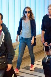 Natalie Portman at LAX Airport - June 2014