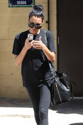 Naya Rivera All in Black - Leaving a Jewelry Store in Beverly Hills