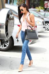 Naya Rivera in Tight jeans - Out in Glendale - June 2014
