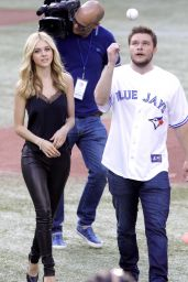 Nicola Peltz at a Toronto Blue Jays Game in Toronto - June 2014