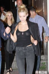 Nicola Peltz night Out Style - Out to Dinner in Hong Kong - June 2014