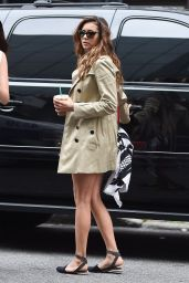 Nina Dobrev Shows Off Legs - Out in New York City - June 2014